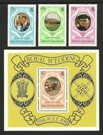 TURKS & CAICOS 1981 ROYALTY ROYAL DIANA WEDDING MILITARY WELSH GUARDS SET & M/SHEET MNH - Turks And Caicos
