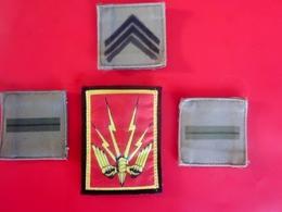 Militaria Patch Écusson En Tissu +3 Grades En Krach Insigne Armée De L'air Equipement Militaire - Armée De Terre