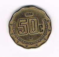-&  MEXICO  50  CENTAVOS  1998 - Mexique