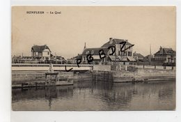 CPA - 14 - HONFLEUR - Le Quai - Pont écluse - Pas Courante - Honfleur