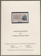 """Berlin: Sonderkarte, Ankündigungskarte LPD Berlin, Mi-Nr. 392: """" Johann Sebastian Bach  - Muster - Specimen """" RR !    X - [5] Berlin"""