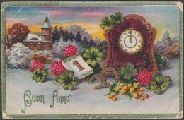 Embossed Greetings - Buon Anno, C.1930 - Rokat Postcard - New Year