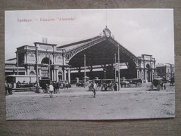 Tarjeta Postal - Chile Chili - Santiago - Estacion Station Gare Alameda Carriages - Hume Y Ca Ahumada 357 - Chili
