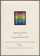 "Berlin: Sonderkarte, Ankündigungskarte LPD Berlin, Mi-Nr. 358: "" Filmfestspiele - Muster - Specimen "" RR !       X - Covers & Documents"