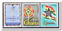 Ghana 1961, Postfris MNH, 1 Year Republic - Ghana (1957-...)