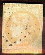 EXTRA BORDEAUX N°43Ba 10c Bistre-Jaune Ob Losange GC Cote +120 Euro LEGER AMINCI - 1870 Emission De Bordeaux
