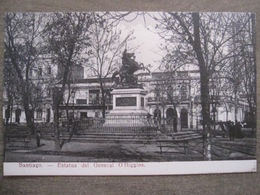 Tarjeta Postal - Chile Chili - Santiago - Estatua Del General O'Higgins - Hume Y Ca Ahumada 357 - Chile