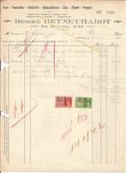 Facture Désiré Heyne Chabot Fers Poutrelles Poëlerie Zinc Plomb Pompes 1941 Vers Brasserie J Coenen JODOIGNE - Belgium