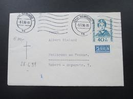 BRD 1955 / 56 Wohlfahrt Helfer Der Menschheit Nr. 225 Einzelfrankatur! Katalogwert 120€ - BRD