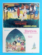 SNOW WHITE AND THE SEVEN DWARFS .... Yugoslavian Vintage Small School Timetable * Walt Disney - Europa