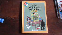 TINTIN ALBUM DOUBLE LES 7 BOULES DE CRISTAL / LE TEMPLE DU SOLEIL   HERGE - Tintin
