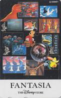 Télécarte Japon  / 110-179621 - DISNEY STORE - FANTASIA / Mickey - Japan Movie Cinema Film Phonecard - Disney