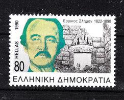 Grecia   -   1990. H Schliemann E Porta Dei Leoni A Micene. Gate Of The Lions To Mycenae. MNH - Archeologia