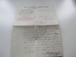 Mitteldeutsche Creditbank Filiale Karlsruhe. Dokument. Kreditvertrag?? Karlsruhe 1918 - Historische Dokumente