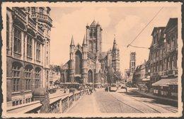 Eglise St-Nicolas Et Beffroi, Gand, Flandre-Orientale, C.1950 - Thill Nels CPSM - Gent