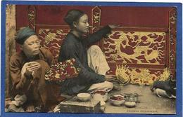 CPA Tonkin Indochine Asie Types Ethnic Métier Peintres Décorateurs Non Circulé - Viêt-Nam