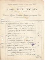 Facture PELLEGRIN Charron à JODOIGNE,Chariots Tombereaux Charrues  Roues Vers Delvaux Jauchelette 1917 - Belgium