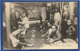 CPA Tonkin Indochine Asie Types Ethnic Métier Brodeurs Non Circulé - Viêt-Nam