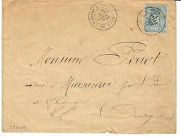 INDRE ET LOIRE  - CAMP DU RUCHARD - TIMBRE A DATE TYPE 18 / 25 CTS TYPE SAGE - 1849-1876: Période Classique