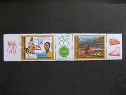 "Mauritanie: TB Bande PA N° 237A , Neuve XX. Vignette "" LOME 85"". - Mauritania (1960-...)"