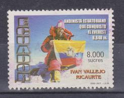 ECUADOR 2000 CLIMBING OF MT. EVEREST BY IVAN VALLEJO RICAURTE CANCELLED SC# 1516 - Ecuador