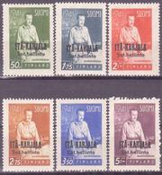 FINLAND EAST KARELIA - ITA KARJALA 1942 - Mi 22-27 - MVLH* VF - Finland