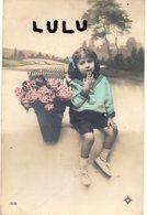ENFANTS 390 : Fillette Avec Un Panier De Fleurs : édit. Logo Un Petit As De Cœur Blanc ?? N° 1212 - Autres