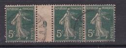 France N° 137° (1909) - Millésime
