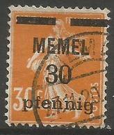 Memel (Klaipeda) - 1920 Sower Overprint 30pf/30c Used   Mi 21  Sc 21 - Memel (1920-1924)