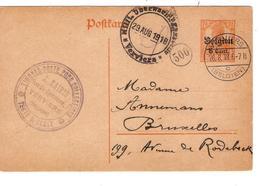 2341/ Entier CP 8 C C.Verviers 1918 + C.Kairis TP Pour Collectionneur V.BXL Censure De Verviers - [OC1/25] Gen.reg.