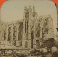 Stéréo Contre La Lumière Circa 1870 . La Cathédrale De Metz . Octroi . - Stereoscopic