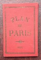 Plan De Paris 1887 . Souvenir De L'Exposition Du Cinquantenaire Des Chemins De Fer . Train . Gares . - Europe