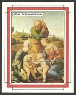 TURKS & CAICOS 1993 CHRISTMAS ART PAINTINGS RAPHAEL NATIVITY M/SHEET MNH - Turks And Caicos