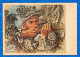 "Illustrateur- Glbert PALMIE  -"" Gebirgsjager  ""  Militaire , Tireur Au Fusil  -  Ed Bild N°2   CPSM - Künstlerkarten"