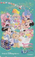 Télécarte NEUVE Japon - DISNEY SEA - SPRING VOYAGE - Mickey Minnie Teddy Bear Japan MINT Free Phonecard - Disney
