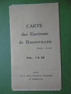 Carte Des Environs De BADONVILLER 54 Meurthe-et-Moselle - Cartes Géographiques