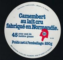 """étiquette Fromage Camembert  Normandie  """"ED"""" Fabriqué Par Bio Cotentin  St Vasst La Hougue - Fromage"""