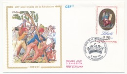 FRANCE - 3 Enveloppes FDC - Bicentenaire De La Révolution - Liberté, Egalité, Fraternité - 1989 - FDC