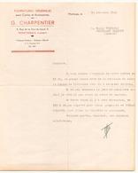 """Lettre à En Tête """" G.Charpentier Fournitures Pour Cycles Et Accessoires """" à Montargis Le 14 Décembre 1949 - Frankreich"""