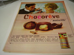 ANCIENNE PUBLICITE BARRE CHOCOREVE 1963 - Posters
