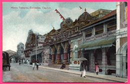 Colombo - Hindu Temple - Temple Hindou - Charrette - Animée - PLATE Ltd N° 18 - Colorisée - Sri Lanka (Ceylon)