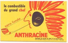 "Buvard ( 21 X 13.5 Cm ) "" Anthracine "" ( Rousseurs ) - Blotters"
