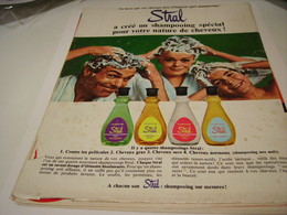ANCIENNE PUBLICITE SCHAMPOOING STRAL 1967 - Other