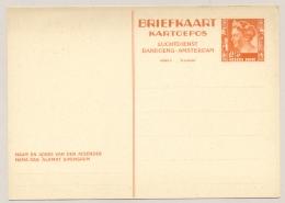 Nederlands Indië - 1938 - 12,5c Wilhelmina, Luchtdienst Bandoeng-Amsterdam, Briefkaart G67 - Ongebruikt - Nederlands-Indië