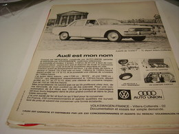 ANCIENNE AFFICHE PUBLICITE VOITURE AUDI EST MON NOM 1967 - Cars