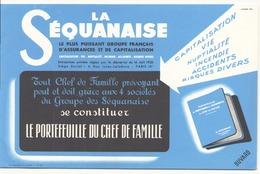 Buvard ( 21 X 14 Cm )  La Séquanaise - Bank & Insurance