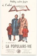 Buvard ( 21 X 13 Cm )  La Populaire-vie ( Pliures ) - Bank & Insurance