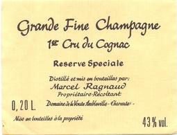 Etiket Etiquette - Grande Fine Champagne - 1° Cru Du Cognac - 0.20 L. - Etiquettes