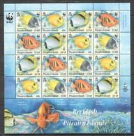 V1054 PITCAIRN ISLANDS WWF FISH & MARINE LIFE REEF FISH !!! MICHEL 42 EURO !!! 1SH MNH - Altri
