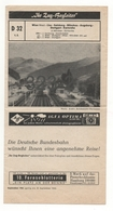 Fahrplan: IHR ZUG-BEGLEITER D 32 September 1963 - Europe
